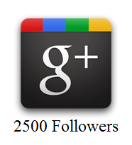2500 Google Plus Followers