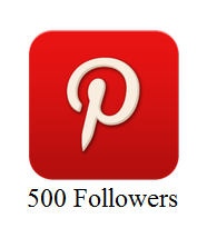 500 Pinterest Followers